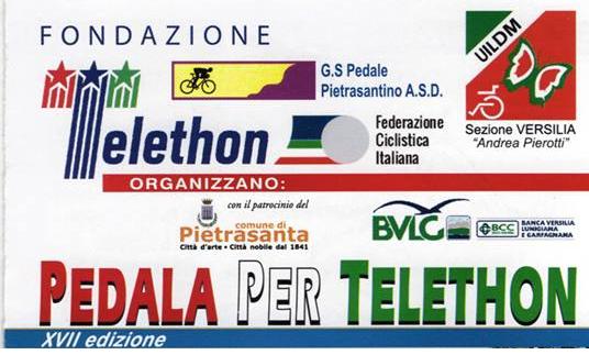 "Gruppo Staffette VersilApuano Scorta a ""Pedala per Telethon"""